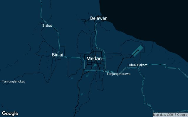 Coverage map for Uber in Medan, Indonesia