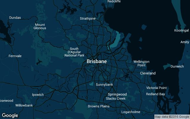 Coverage map for Brisbane