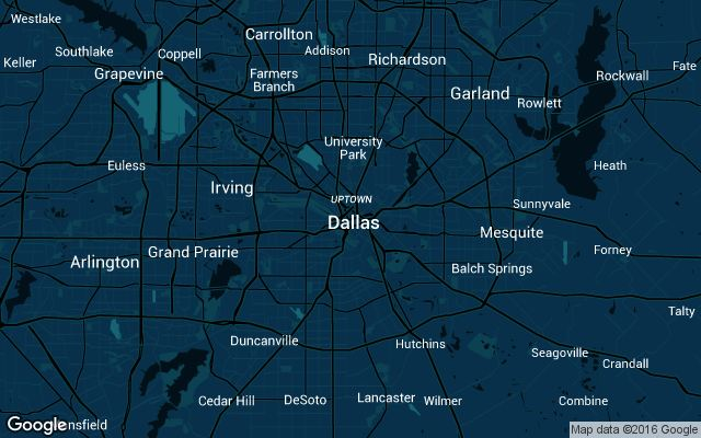 Coverage map for Dallas