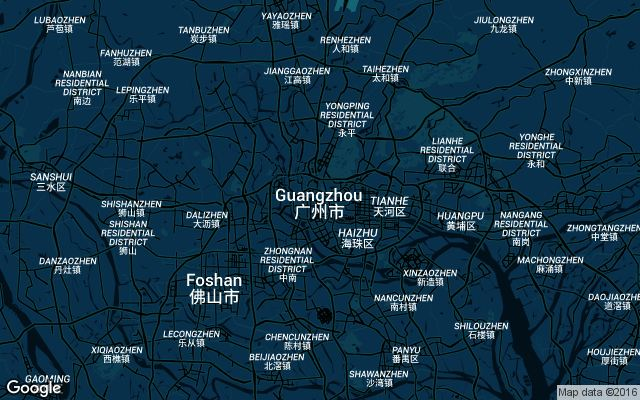 Coverage map for Guangzhou