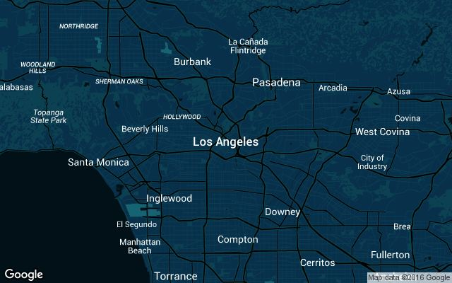 Coverage map for Los Angeles