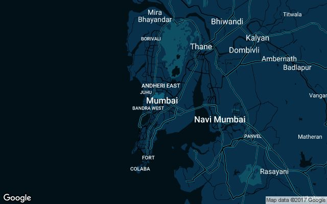 Coverage map for Uber in Mumbai, India