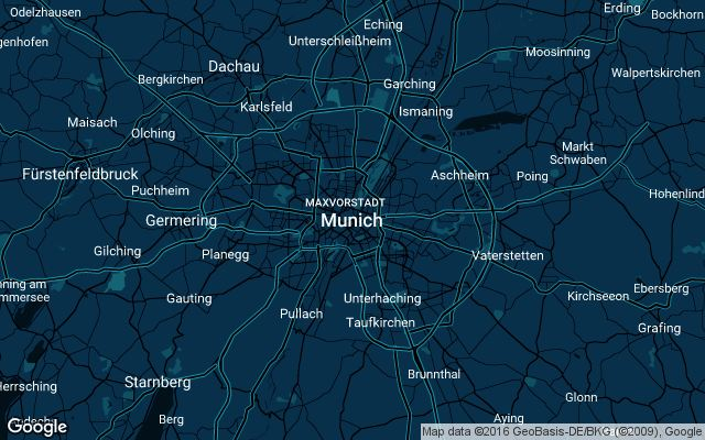 Coverage map for Uber in Munich, Germany