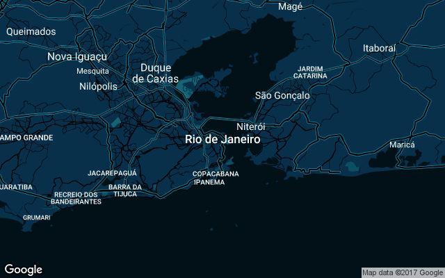 Coverage map for Uber in Rio De Janeiro, Brazil