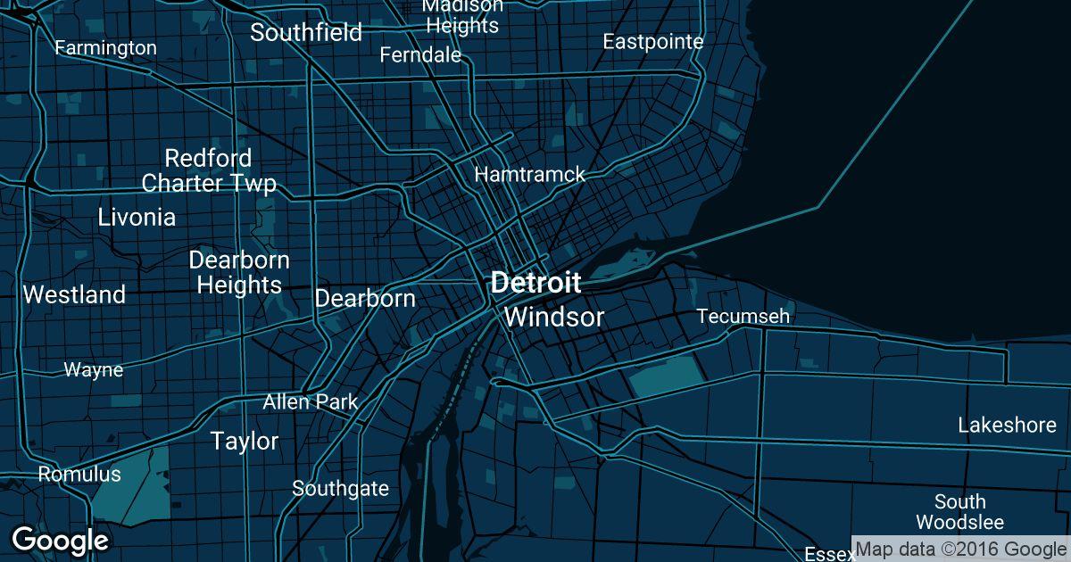Detroit Michigan Map Google.Detroit Uber Prices Historical Rates
